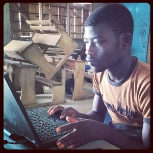 Aikins-Mensah-hard-at-work-today-learning-about-volunteer-management-and-all-the-admin-needed-to-ens