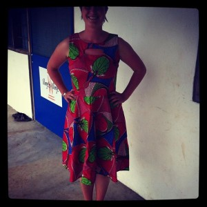 Liz-in-her-African-fabric-design-for-her-locally-creating-job-for-the-rural-folks