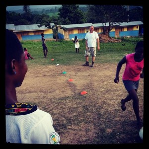 Neil-Kerfoot-CEO-gets-involved-with-the-girls-football-practice-here-in-Abenta-Ghana