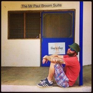 Volunteer-bricklayer-Mr-Steve....-relaxing-outside-the-Mr-Paul-Broom-Suite